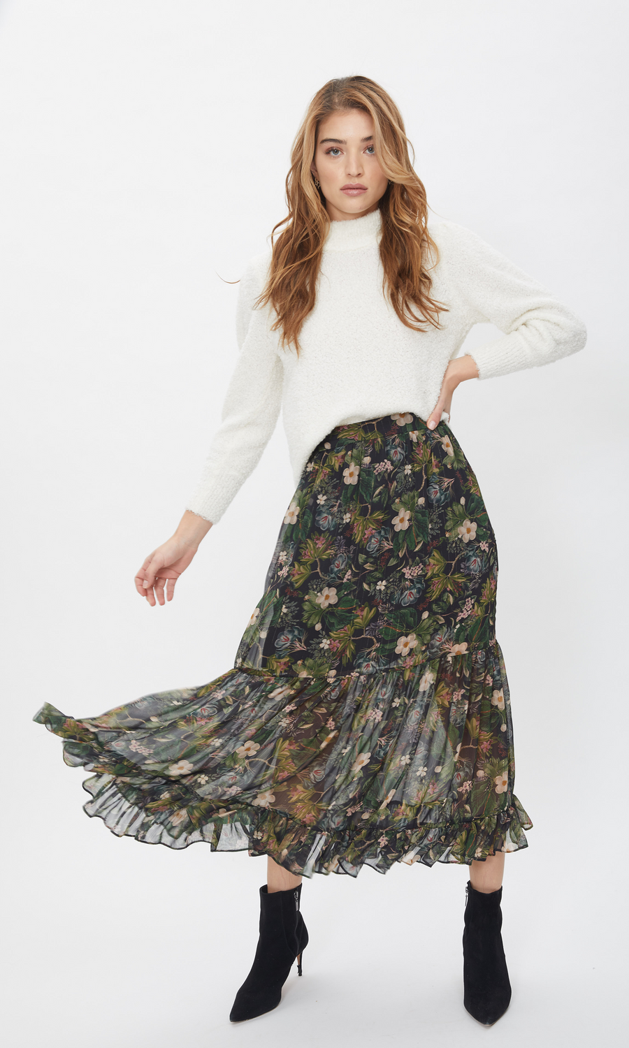 Selena Floral Jungle Skirt