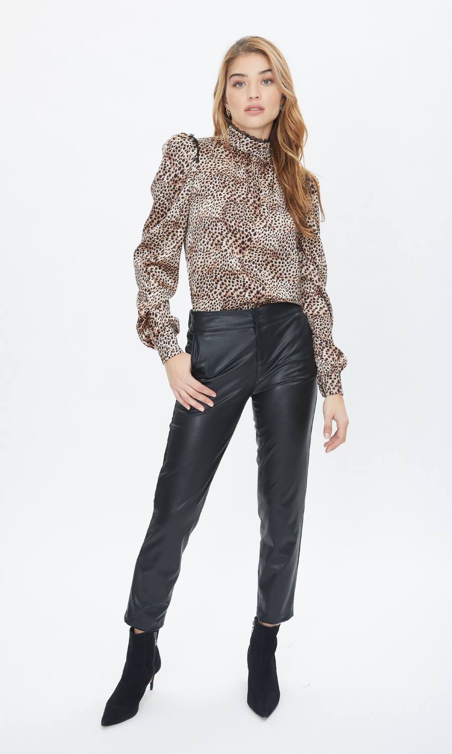 Amita Vegan Leather Pants