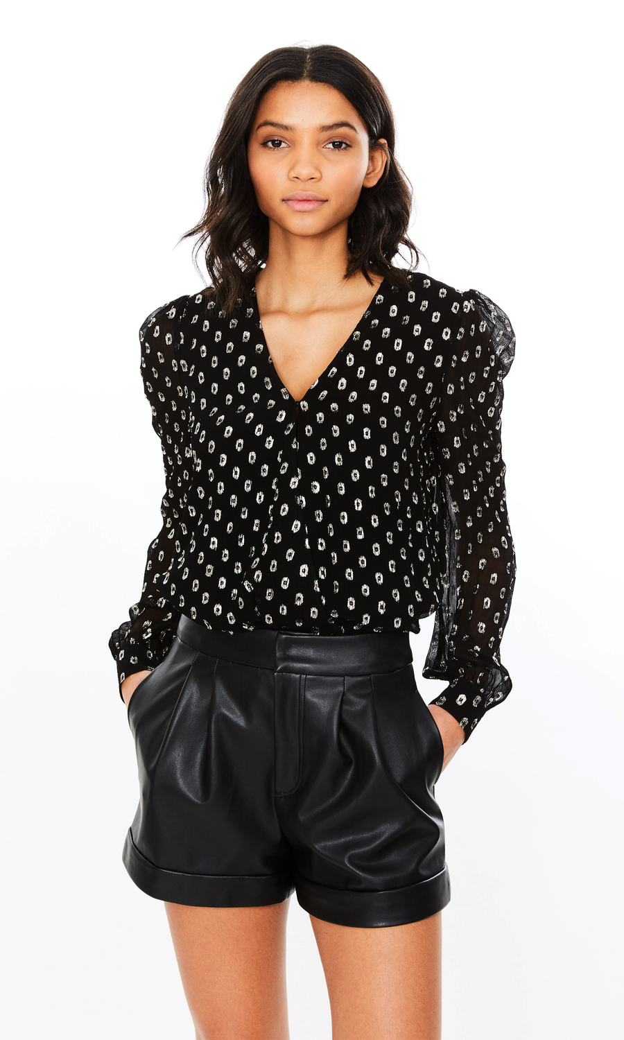 Simone Wrap Blouse