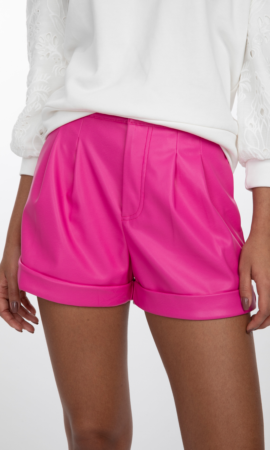 Georgie Vegan Leather Shorts