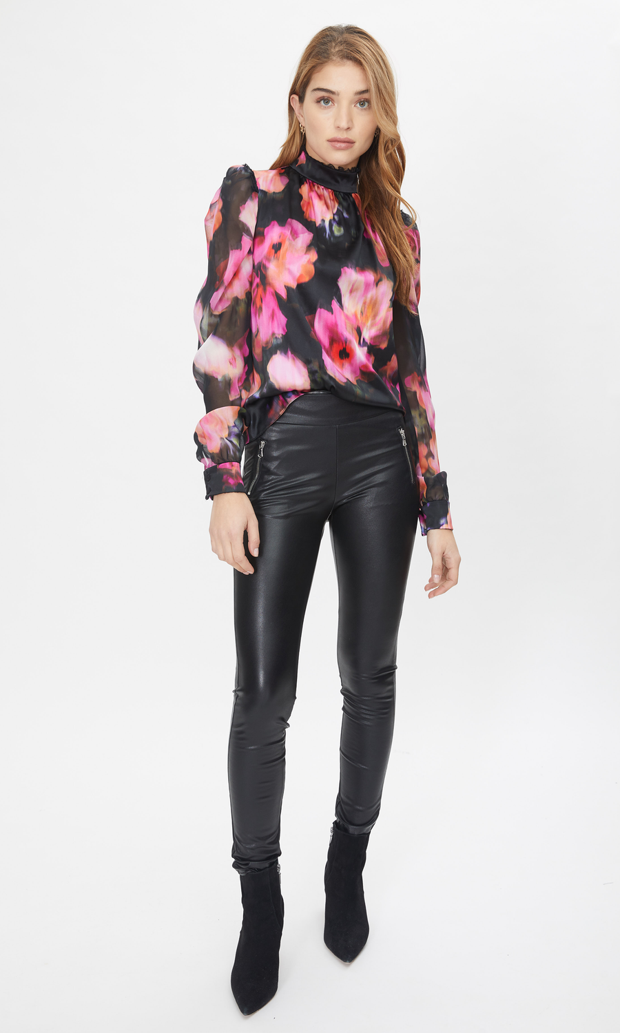Estella Blurry Floral Blouse