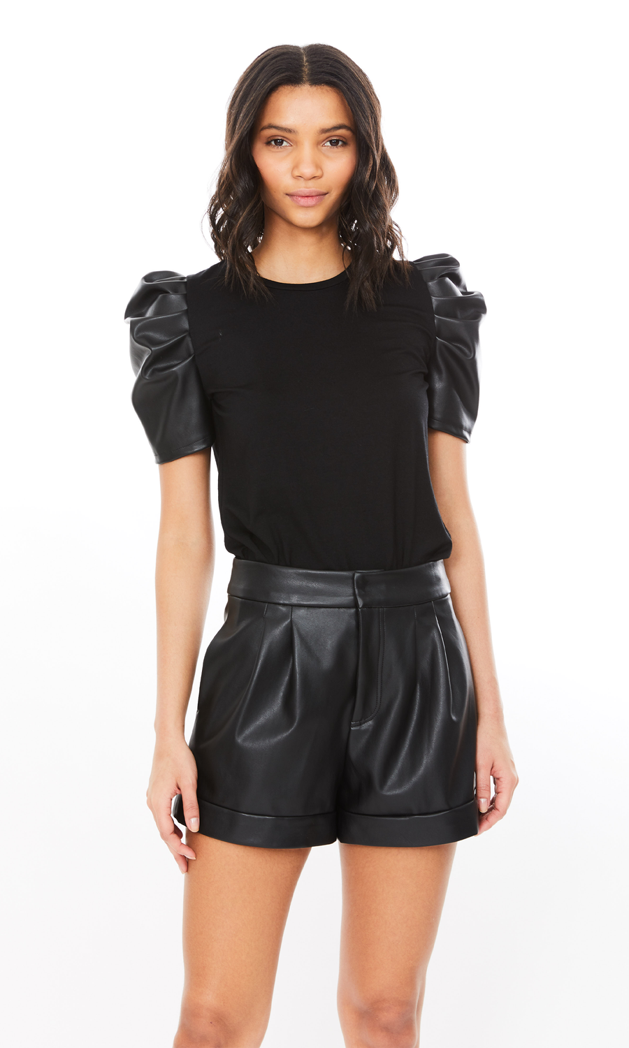 Penny Vegan Leather Top