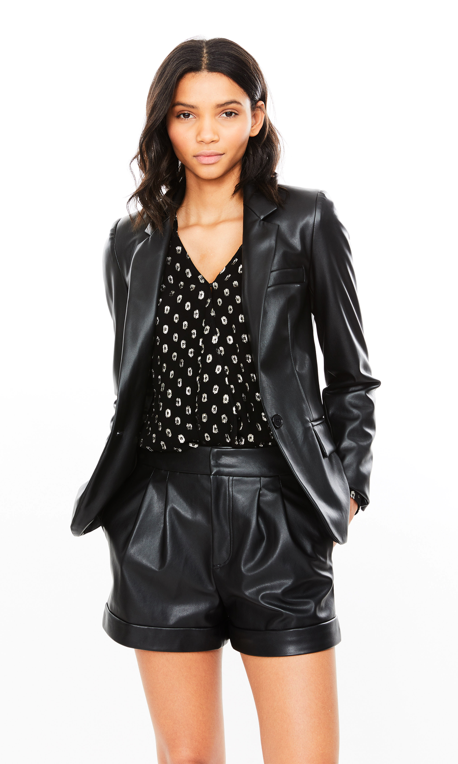 Millie Vegan Leather Blazer