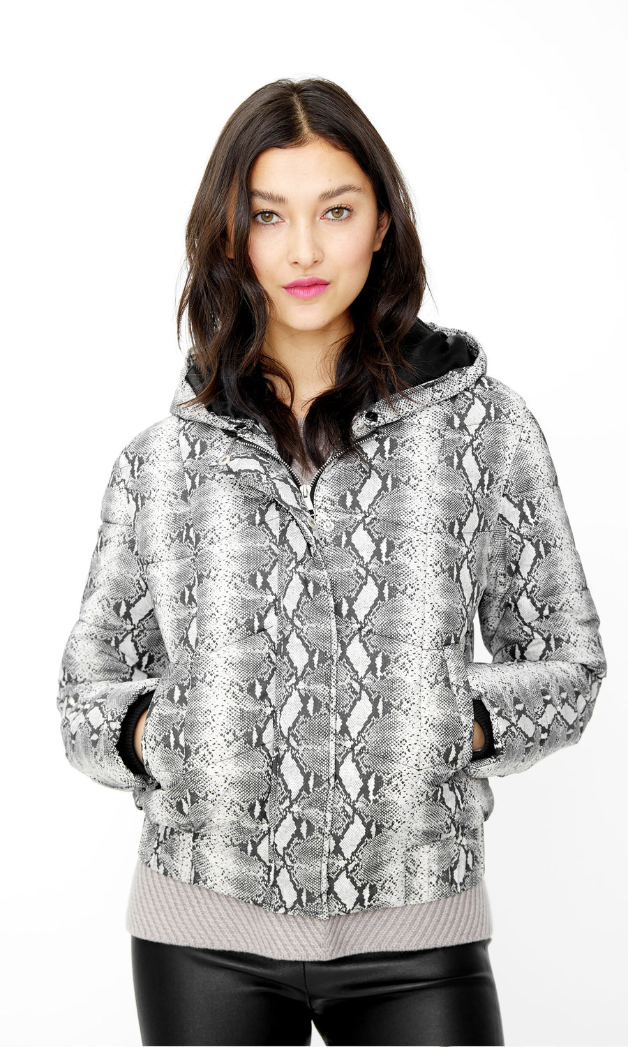 Liam Snake Puffer Jacket