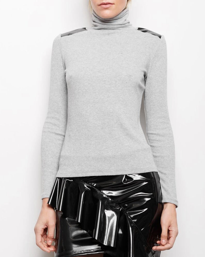 Avery Patent Leather Top
