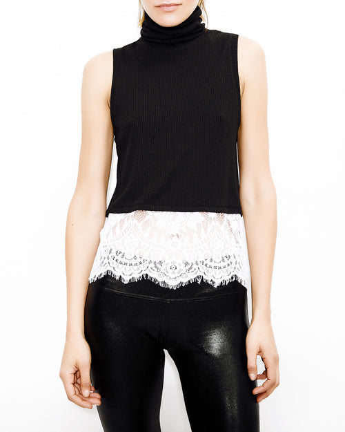 ... cheap for discount 4d8ac 1a0d0 Delavigne Lace Up Black and White Top. Generation  Love. ... 52ac38a19