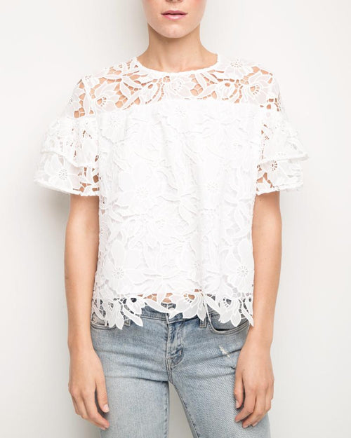 Elsa Lace Short Sleeve Top