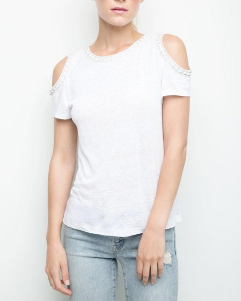 Emmy Pearls Short Sleeve Top