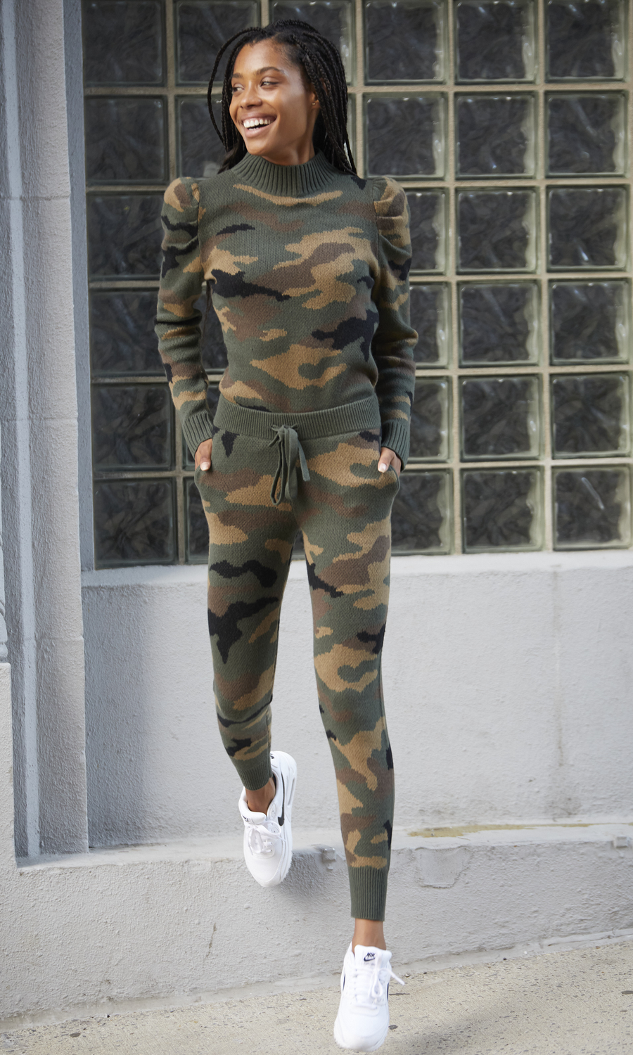 Saskia Camo Sweater