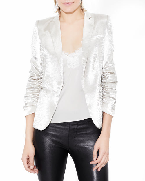 Fabien Blazer Silver. Generation Love. NYC Modern Women's Clothing