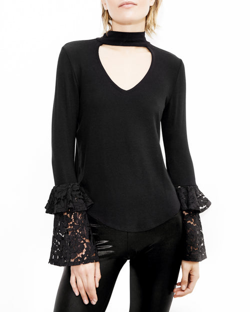 Franklin Lace Black Top. Generation Love. NYC Modern Women's Clothing