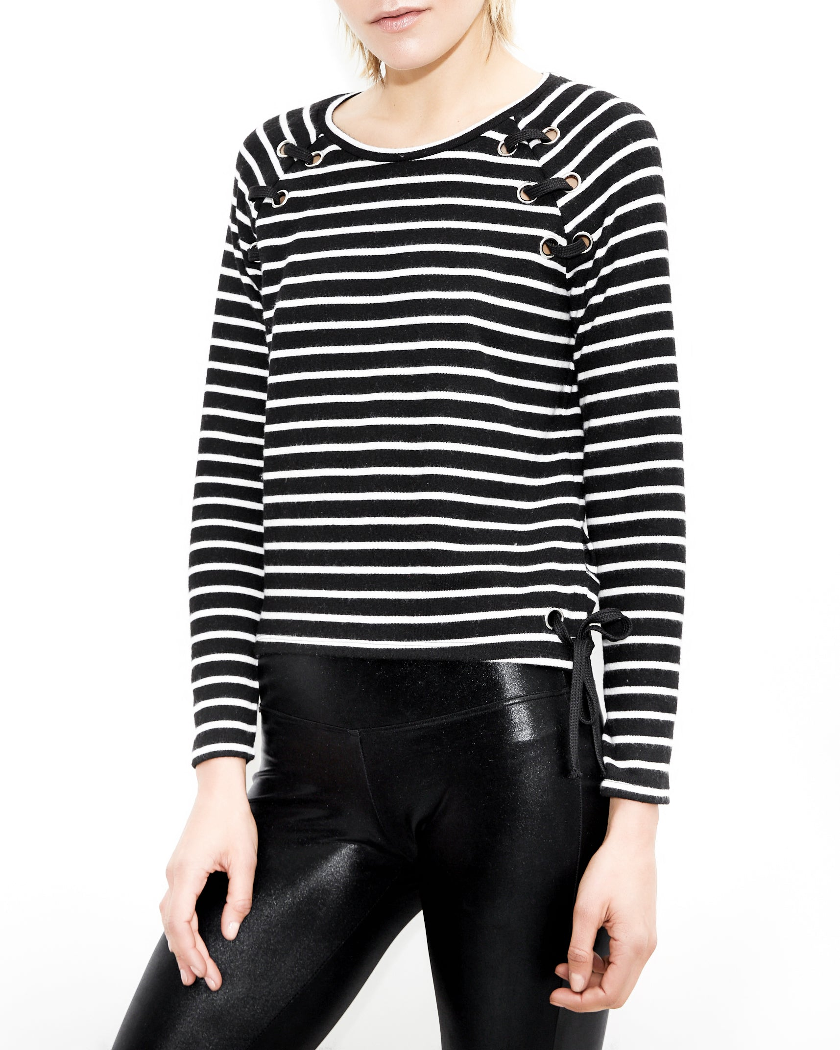 Kath Eyelets Striped Top. Generation Love. NYC Modern Women's Clothing