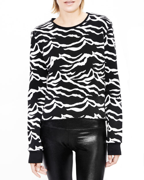 Lauren Zebra Print Top. Generation Love. NYC Modern Women's Clothing