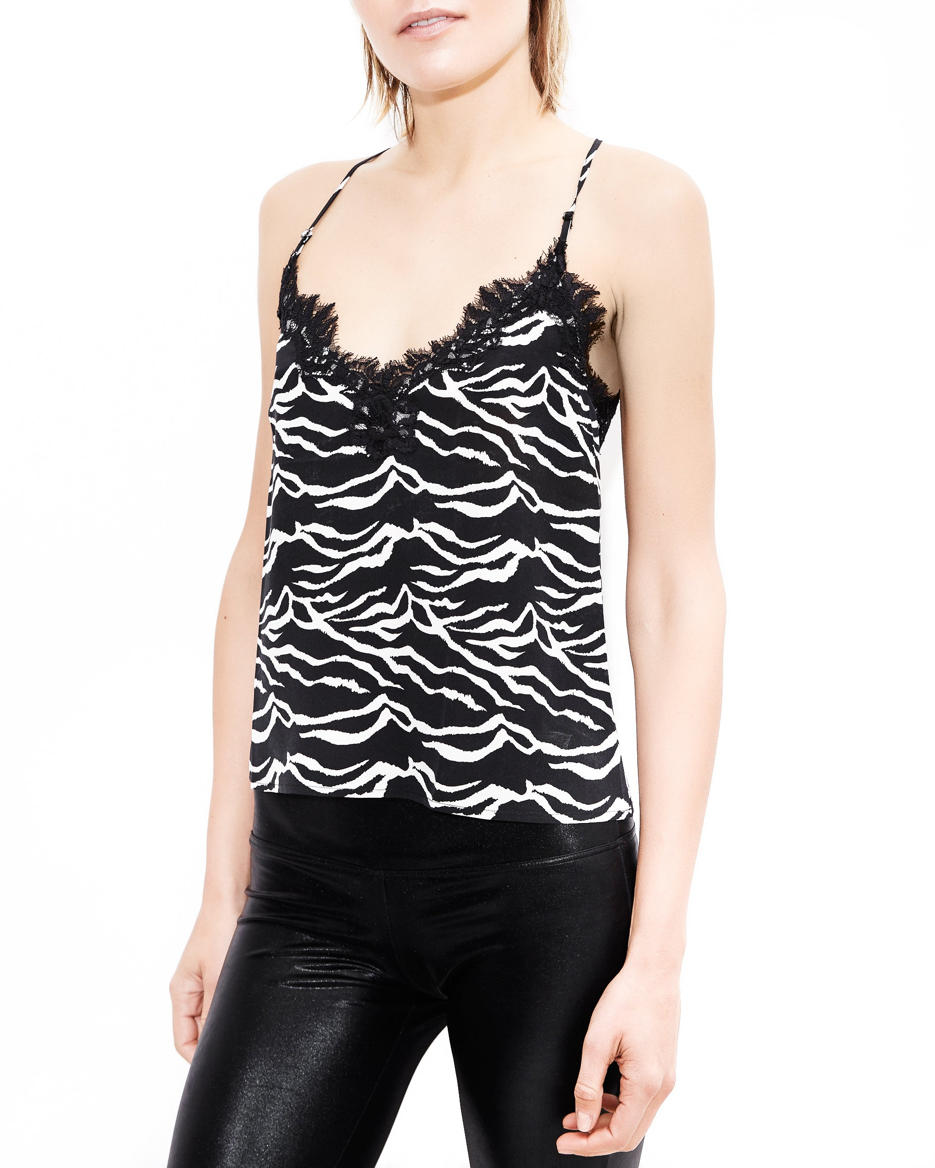 Lily Lace Zebra Top. Generation Love. NYC Modern Women's Clothing