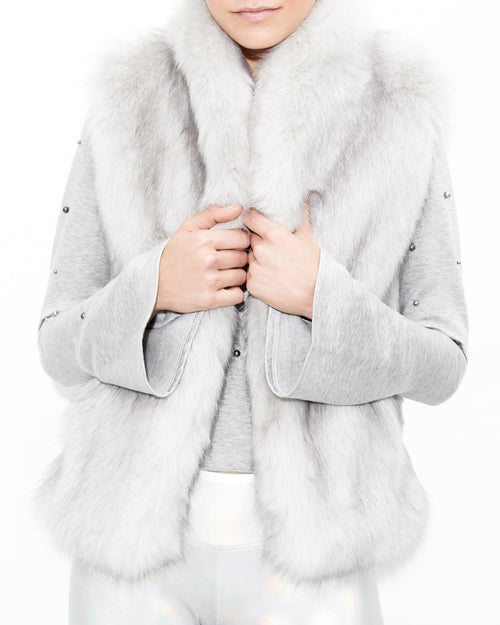 Lita Faux Fur Grey Jacket. Generation Love. NYC Modern Women's Clothing