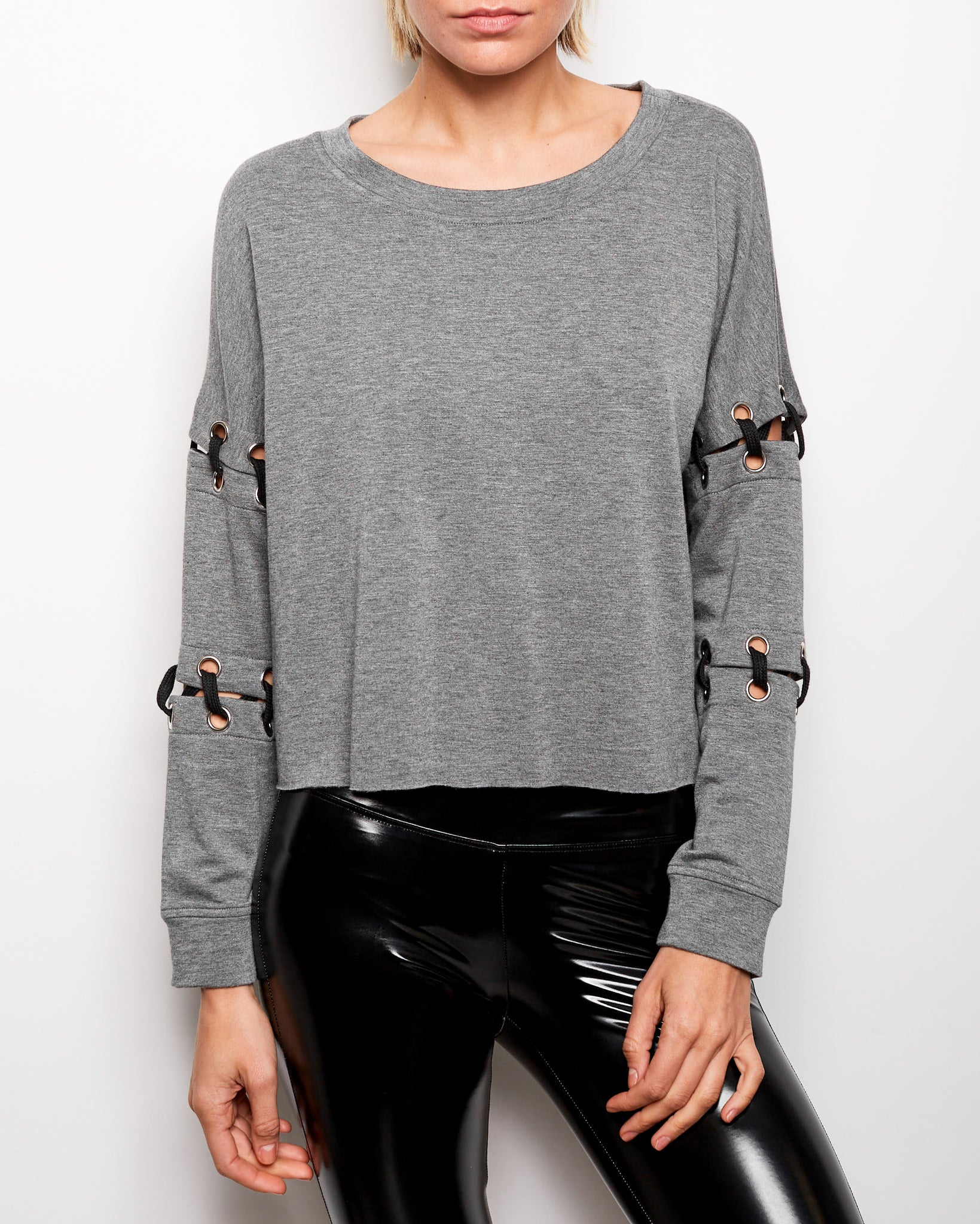 Lois Lace Up Sweatshirt