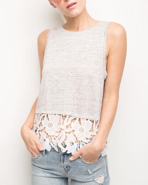 Mila Lace Sleeveless Top