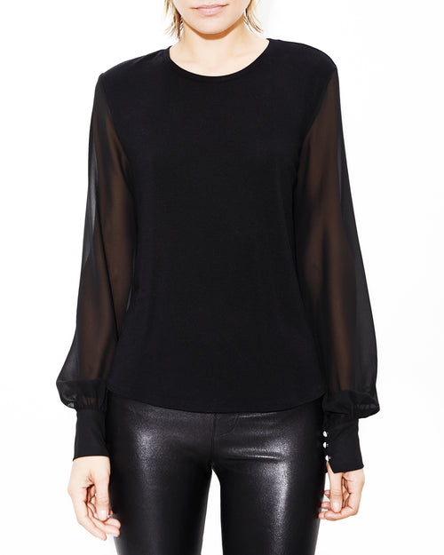 Noelle Black Top. Generation Love. NYC Modern Women's Clothing