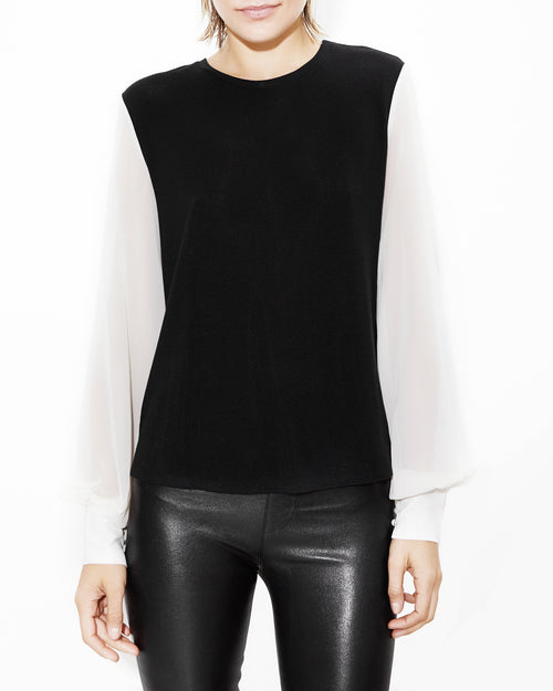 Noelle White Sleeve Top. Generation Love. NYC Modern Women's Clothing