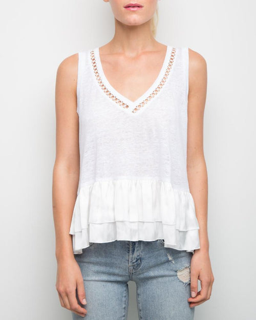 Ruby Ruffle Sleeveless Top