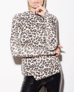 Sage Leopard Sweater