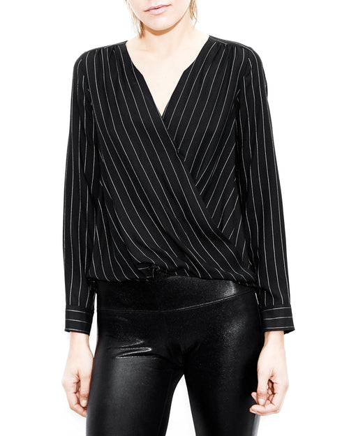 Taylor Pinstripe Long Sleeve. Generation Love. NYC Modern Women's Clothing