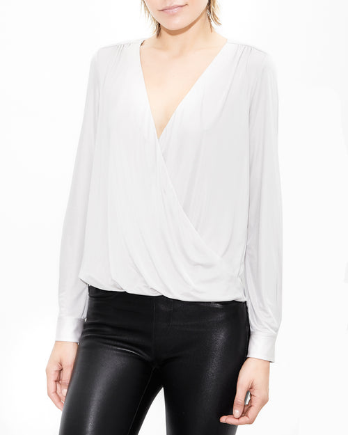 Silver Drape Shirt. Generation Love. NYC Modern Women's Clothing