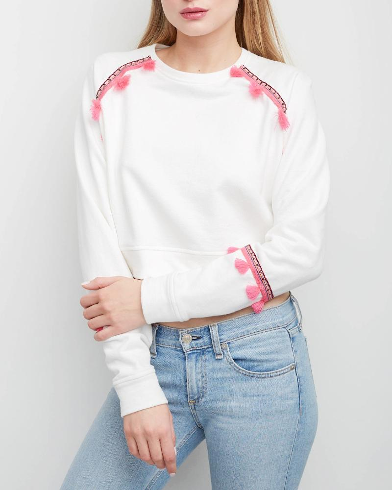 Devon Brocade Trim Sweatshirt