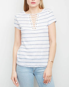 Hugo Lace Up Tee