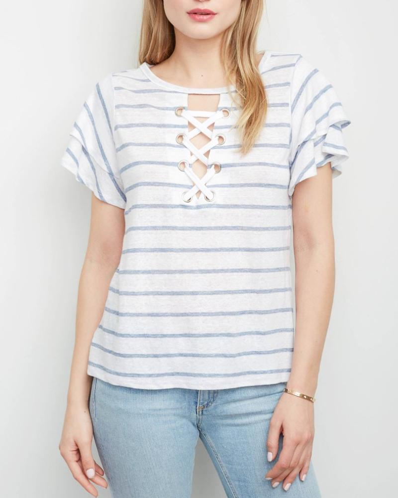 Kiki Lace Up Top