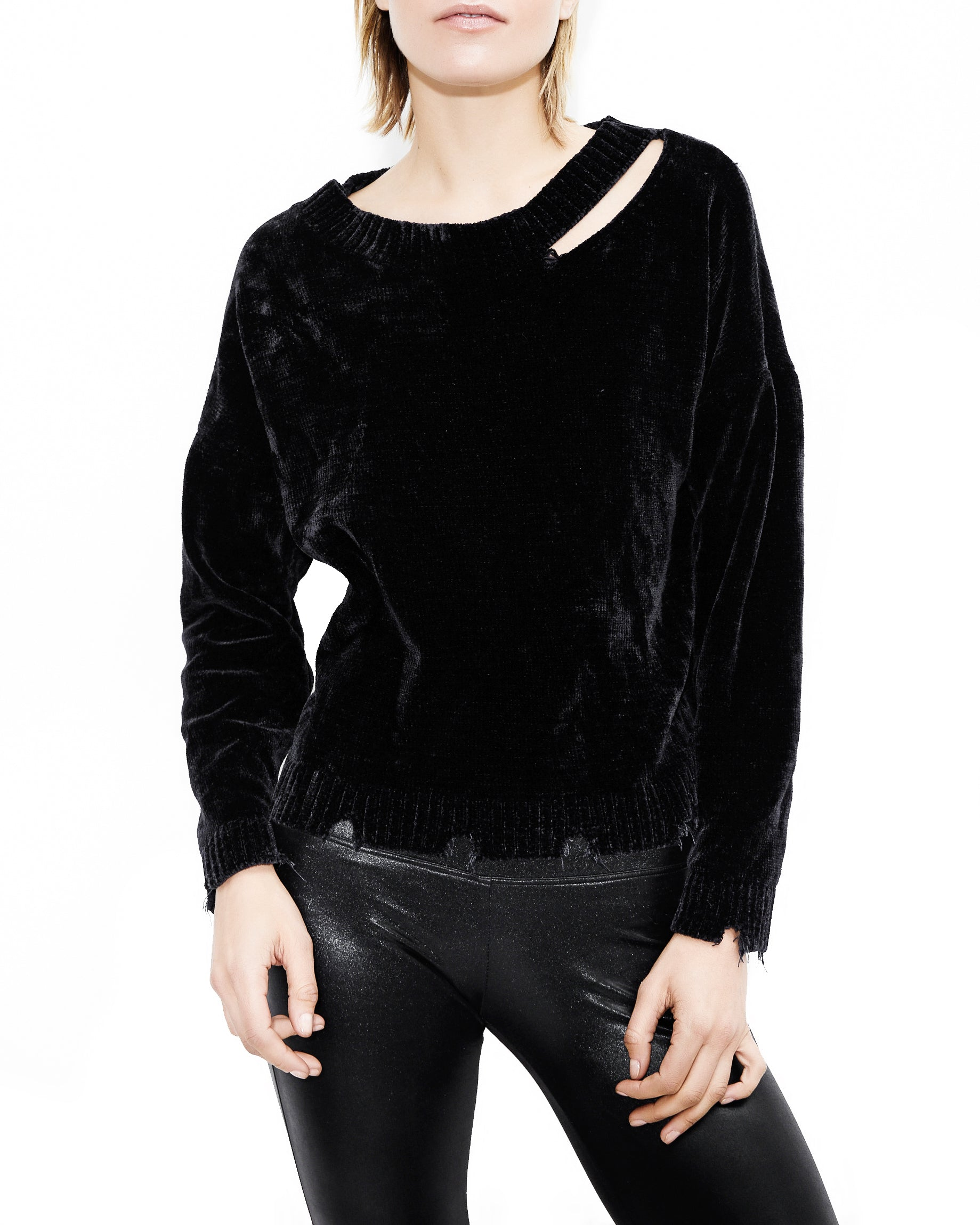 Leslie Chenille Black Top. Generation Love. NYC Modern Women's Clothing