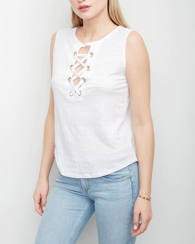 Lola Lace Up Top