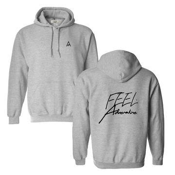 THE CLASSIC HOODIE - GREY // BLACK