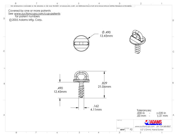Hand Screw (12mm)
