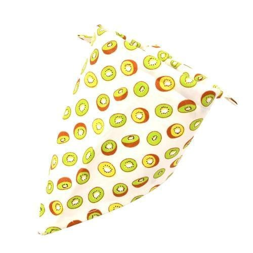 Kiwi Dog Bandana Fruit Print [product_type] Luxury Dog Bow Ties and Collars - Waggy Ways