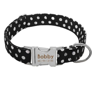 Personalised Spotted Nylon Puppy Dog Collar Personalised Luxury Dog Bow Ties and Collars - Waggy Ways