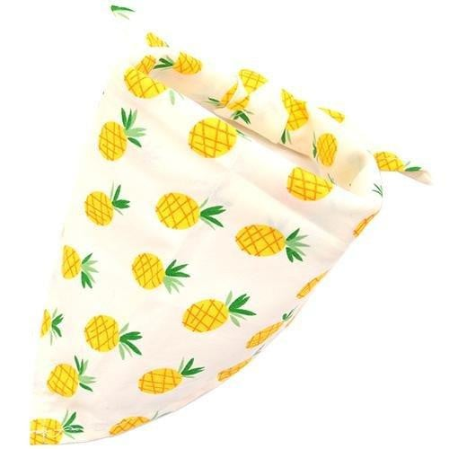 Pineapple Dog Bandana Fruit Print [product_type] Luxury Dog Bow Ties and Collars - Waggy Ways