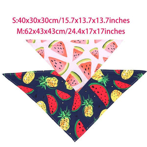 Pink Dog Watermelon Bandana Fruit Print - Waggy Ways