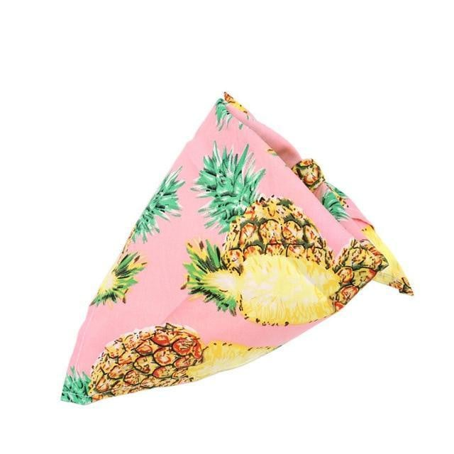 Pink Pineapple Dog Bandana Fruit Print [product_type] Luxury Dog Bow Ties and Collars - Waggy Ways