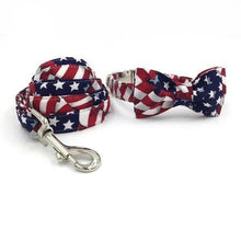 Load image into Gallery viewer, THE AMERICAN Bow Luxury Dog Bow Ties and Collars - Waggy Ways