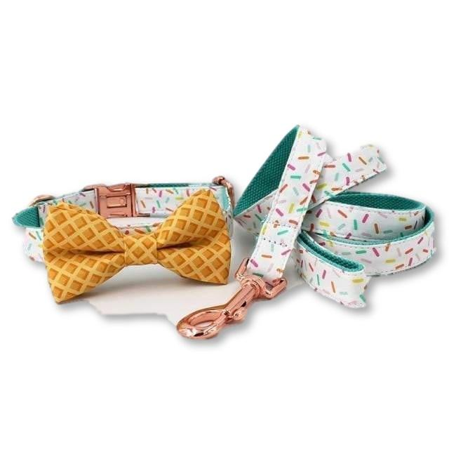 THE ICECREAM Bow Luxury Dog Bow Ties and Collars - Waggy Ways