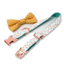 Load image into Gallery viewer, THE ICECREAM Bow Luxury Dog Bow Ties and Collars - Waggy Ways