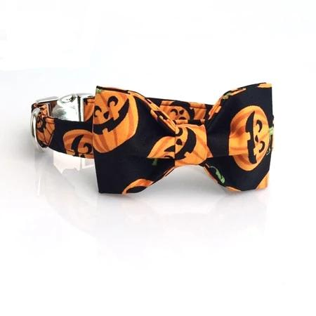 THE PUMPKIN Bow Luxury Dog Bow Ties and Collars - Waggy Ways