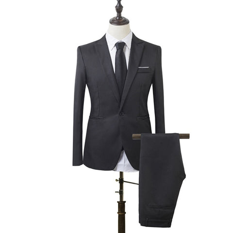 Slim Fit Business Two-Piece Suits For Men with pants