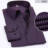 Business Casual Long Sleeved  Striped Shirt