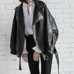High Quality 2020 Spring Black PU Leather Fashion New Women's Wild Jacket