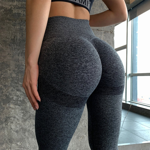 Seamless Yoga Pants Women High Waisted Sport Leggings Tummy Control