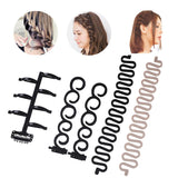 Women Multi Function Hair Styling Tools French Braiding DIY Fish Bone Bun Maker