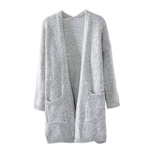 Long Sleeve loose knitting cardigan sweater Women Knitted Female Cardigan