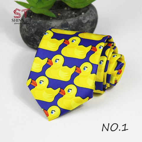 Professional Handmade Necktie Yellow Rubber Duck